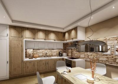 Интериор кухня и дневна