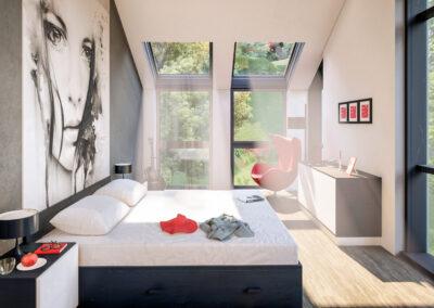 Спални с покривно осветление Velux